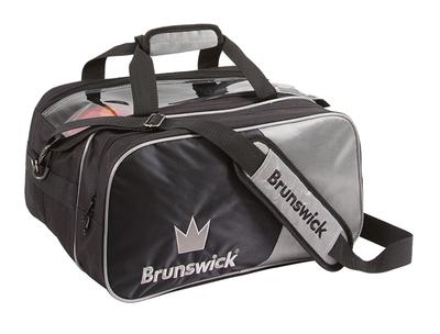 Brunswick Crown Deluxe Black/Silver 2 Ball Bowling Bag
