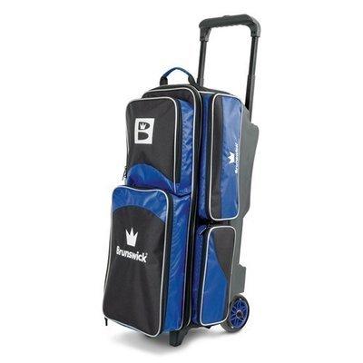 Brunswick Edge 3 Ball Roller Black/Blue Bowling Bag