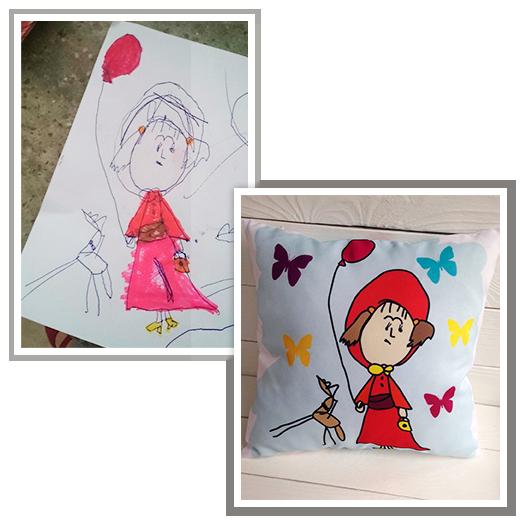 Подушка по рисунку