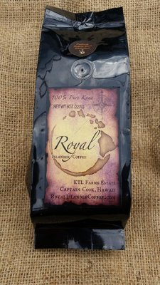 8 oz. Royal Islander Coffee PEA BERRY-Whole Bean-Medium Roast
