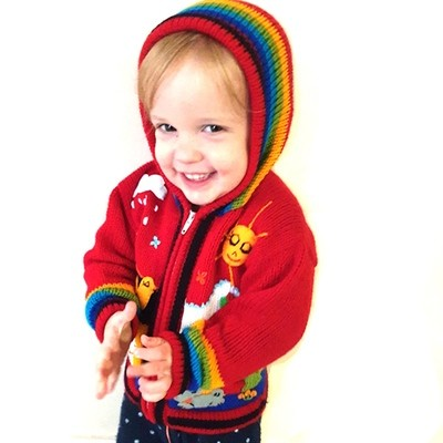 Peruvian Embroidered Cardigans 2yrs