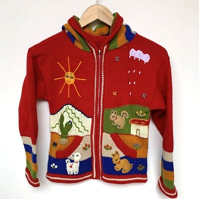 Peruvian Embroidered Cardigan 8yrs