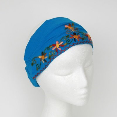 Embroidered Headscarf with Elastic- FREE SHIPPING