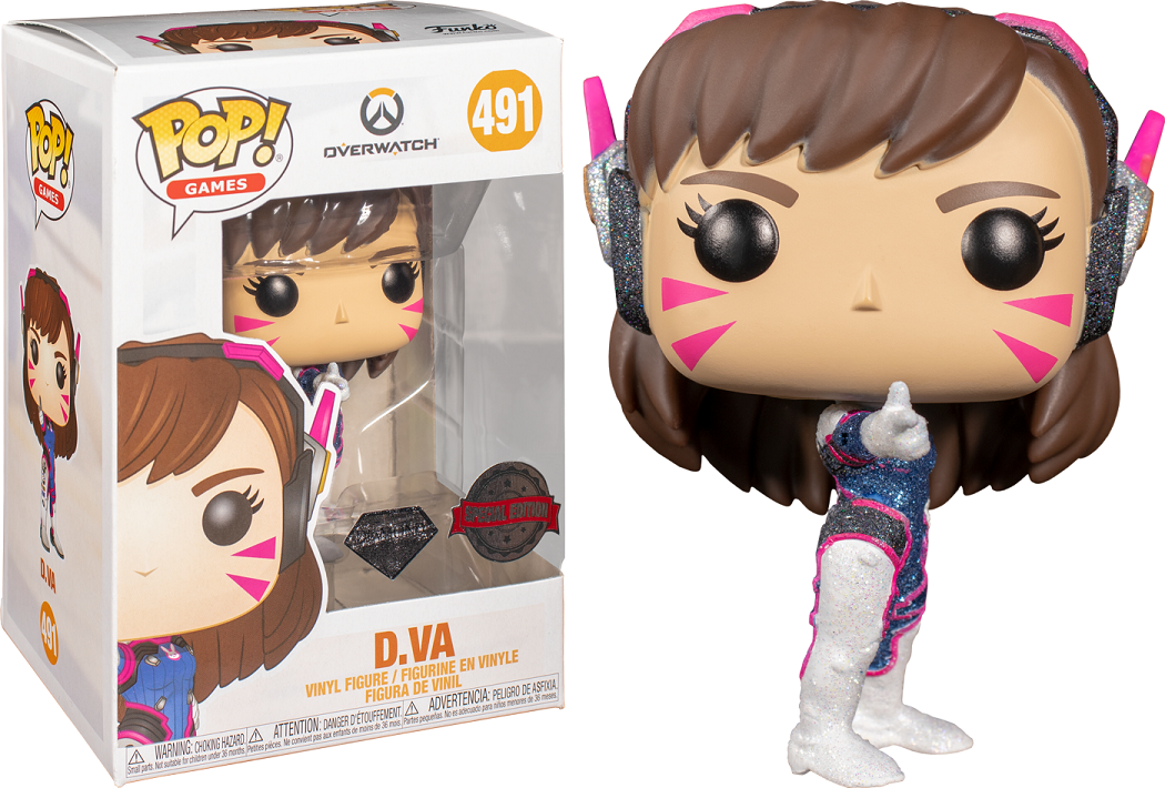Overwatch - D.Va Diamond Glitter Pop! Vinyl Figure