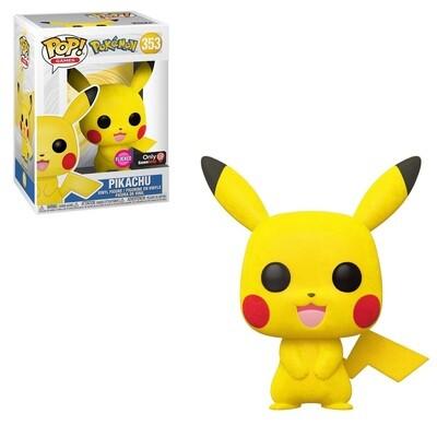 Pokemon Pikachu Flocked Game Stop Exclusive Pop! Vinyl Figure