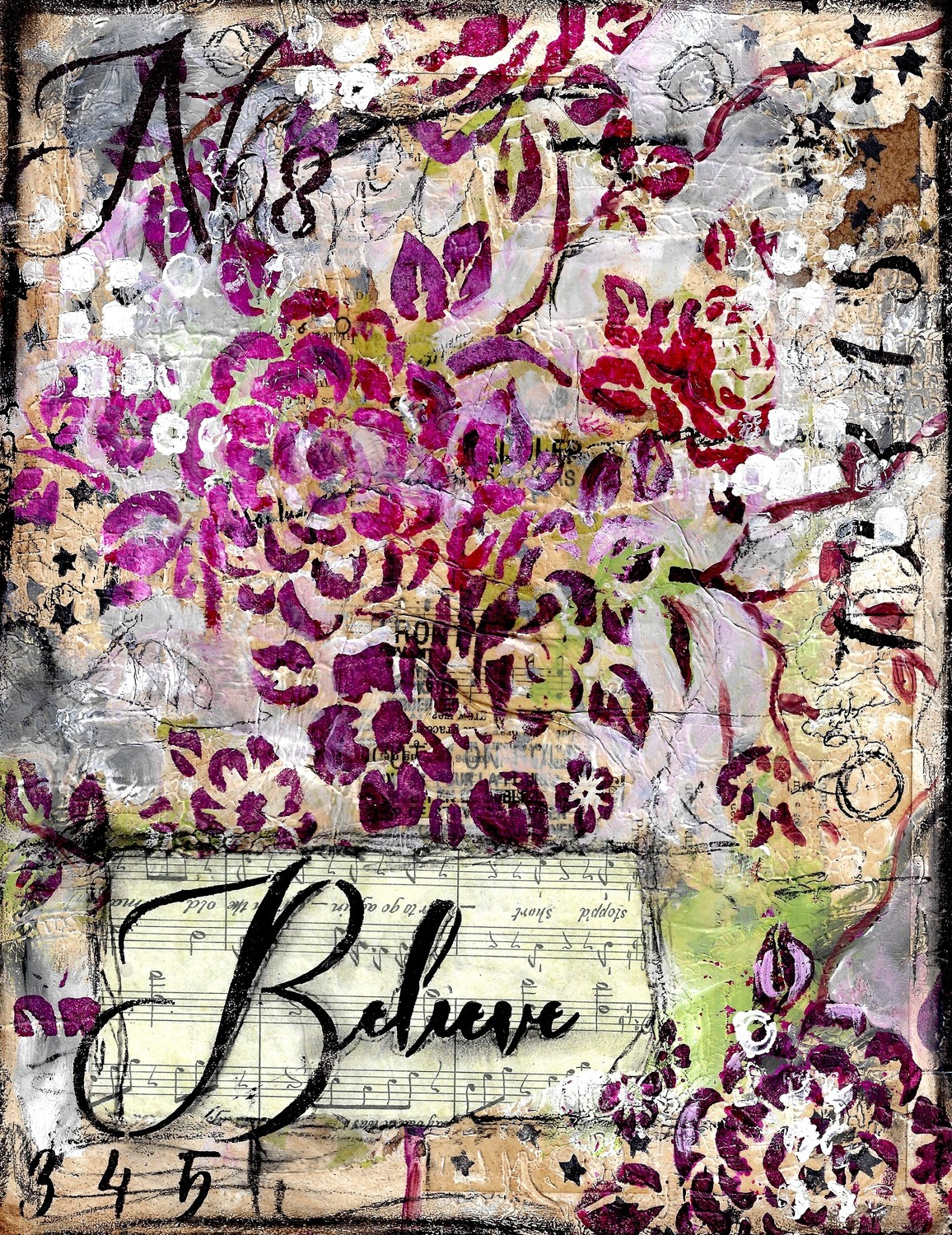 """""""Believe"""" Print on Wood and Print to be Framed"""