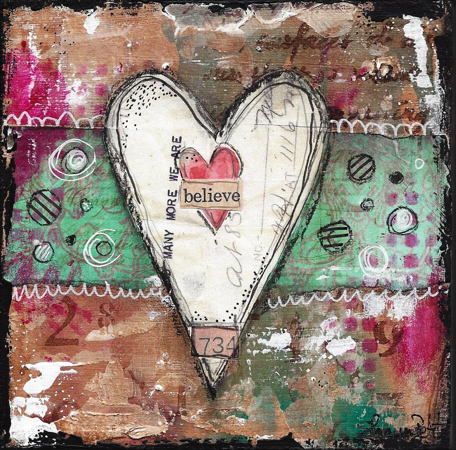 """""""Believe"""" heart series Print on Wood and Print to be Framed"""