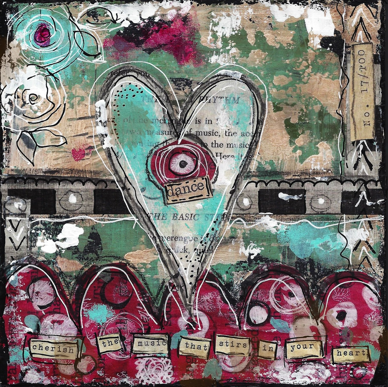 """Heart Series """"Dance"""" Print on Wood or Print to be Framed"""