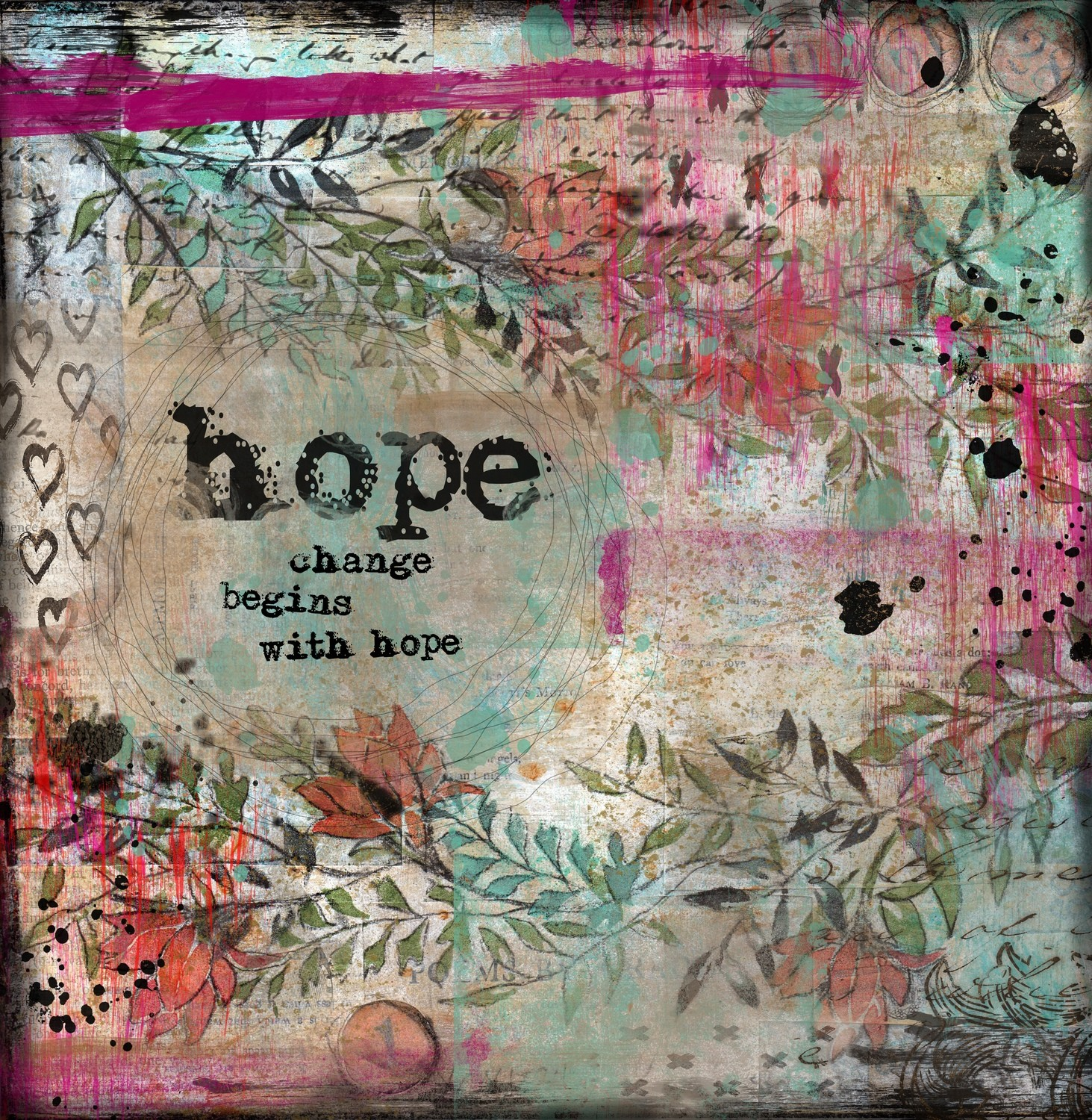 """""""Hope"""" Print on Wood and Print to be Framed"""