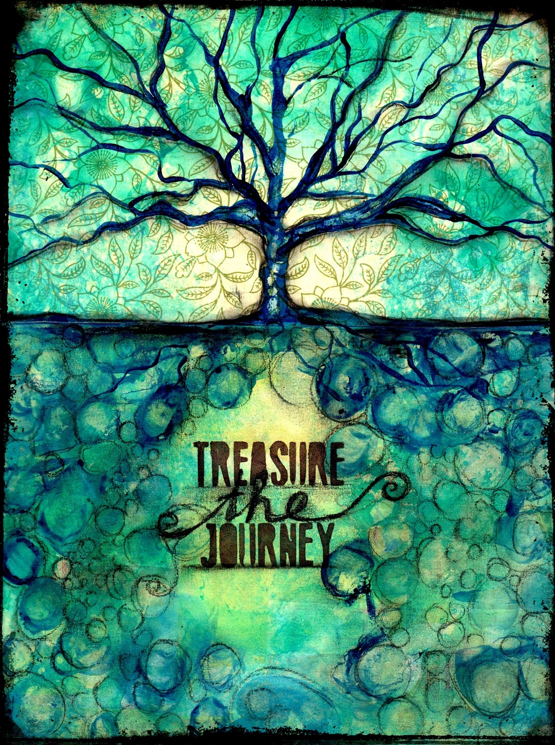 """""""Treasure the Journey"""" Print on Wood and Print to be Framed"""
