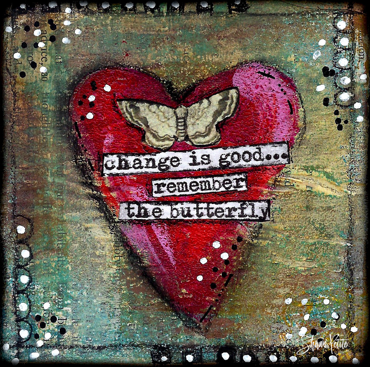 """Giving hearts """"Change is good remember the Butterfly"""" 4x4 clearance"""