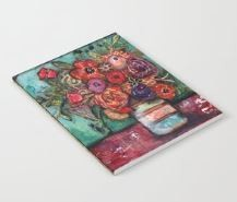 "Notebook ""Bright Flowers in Vase"""