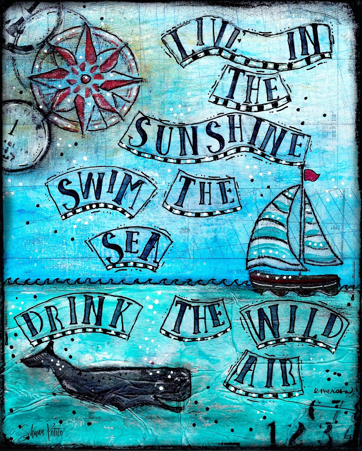 """""""Live in the Sunshine"""" Print on Wood and Print to be Framed"""