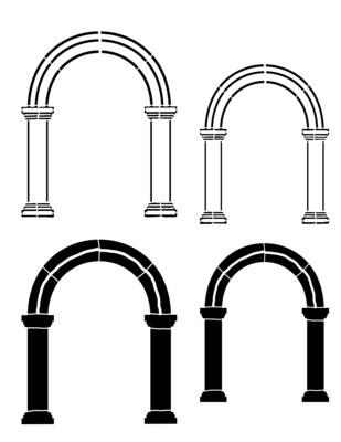 Arch 1 round Stencil