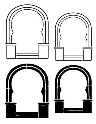 Arch 2  curvy Stencil