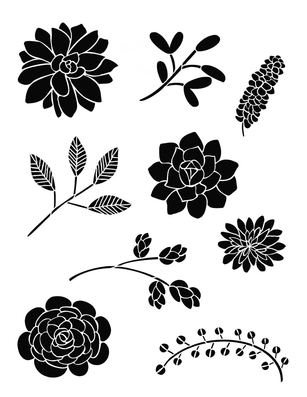 Bouquet of Flowers 1 Stencil