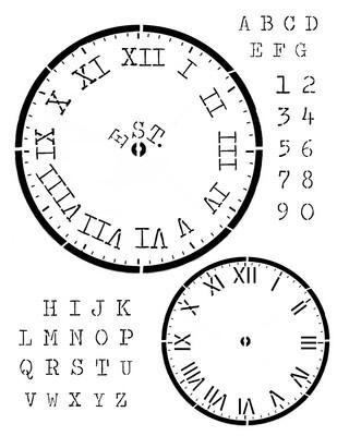 Clock Farmhouse Stencil