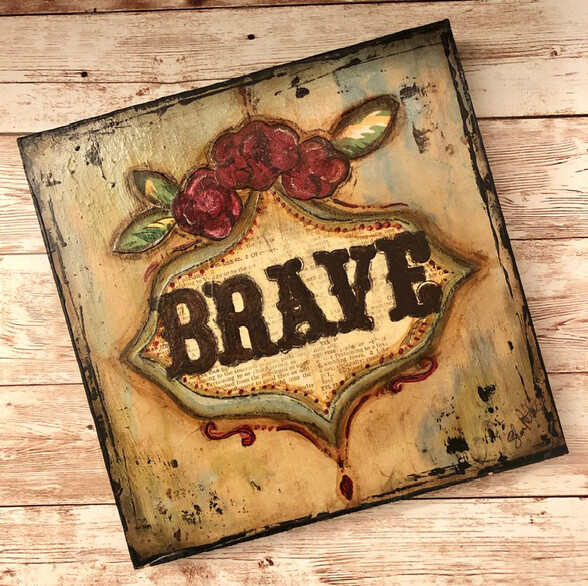 """Brave"" 6x6 Clearance Original"