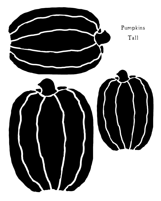 Pumpkins Tall stencil