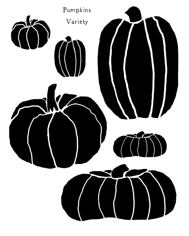 Pumpkins Variety stencil