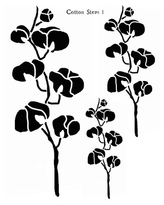 Cotton Stem 1 stencil