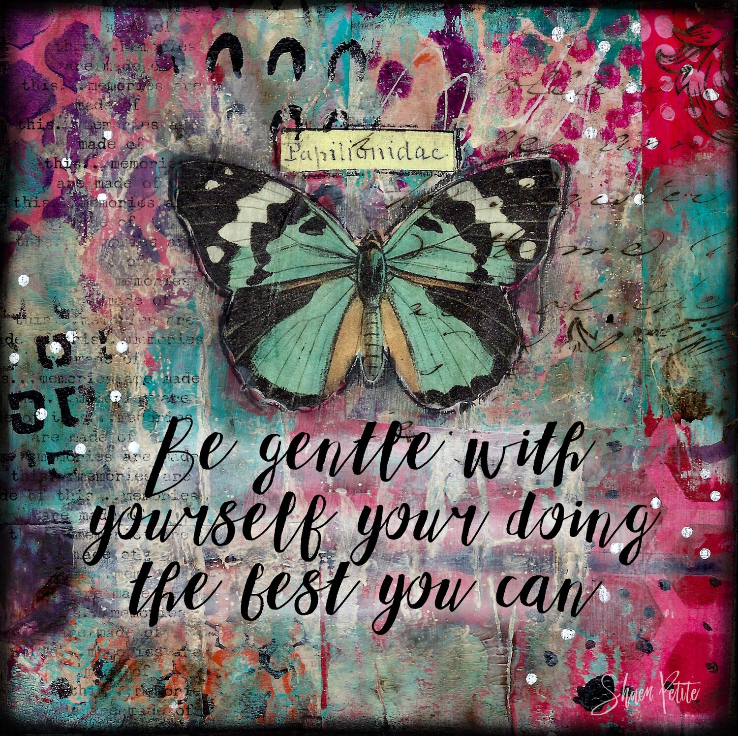 """""""Be gentle with Yourself"""" Print on Wood and Print to be Framed"""