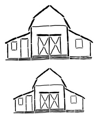 Barns smaller stencil