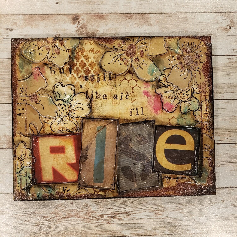 """Rise"" 10x8 mixed media clearance original"