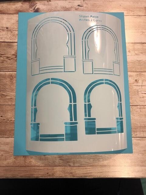 Arches 2 curvy stencil clearance