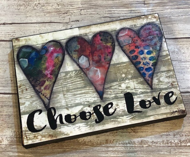 """Choose Love"" hearts 5x7 Clearance"