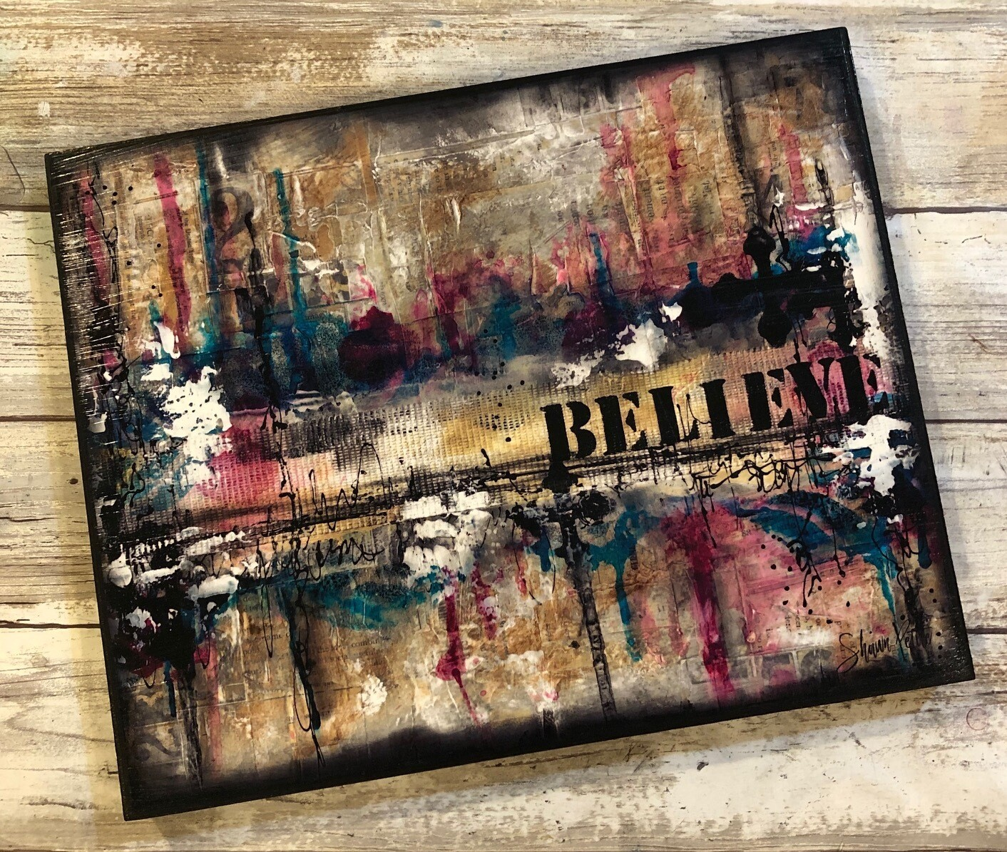 """Believe"" 8x10 clearance"