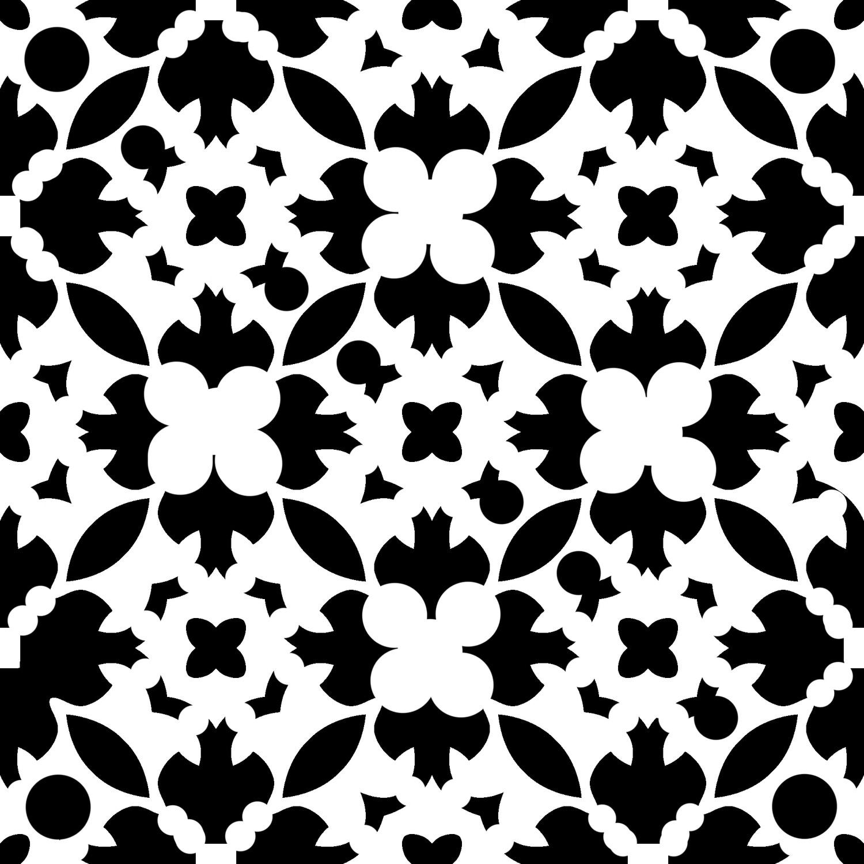 Modern Pattern 6 6x6 stencil