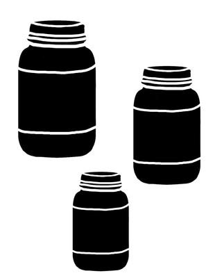 Mason Jars stencil