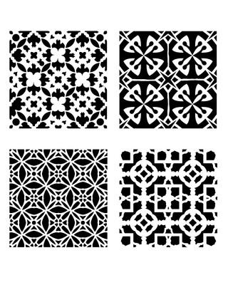 Modern Pattern Minis 1 stencil