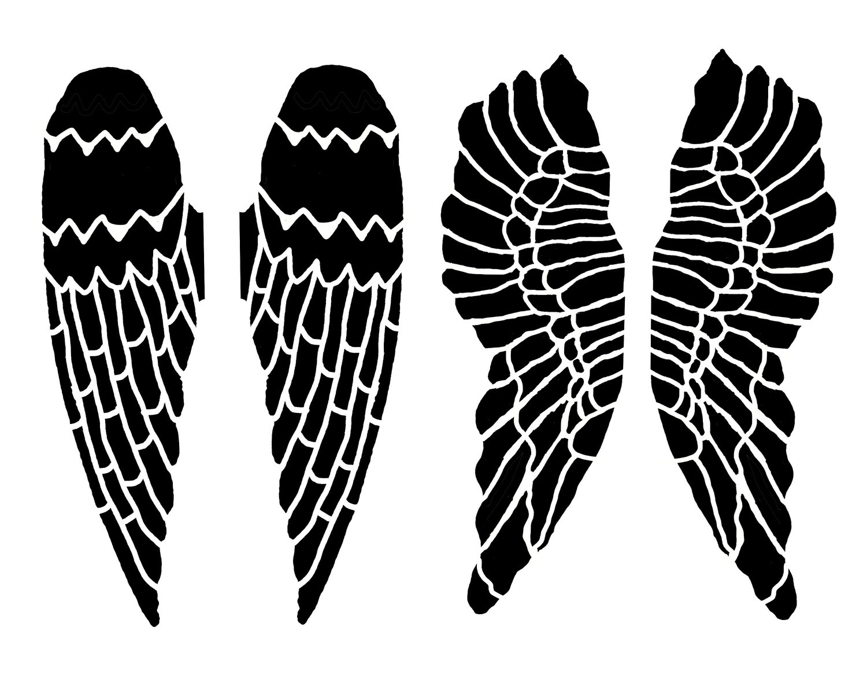 Angel Wings Large stencil