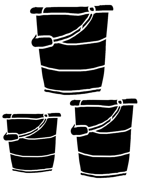 Tin Buckets stencil