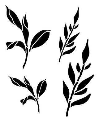 Spring Leaves 1 stencil