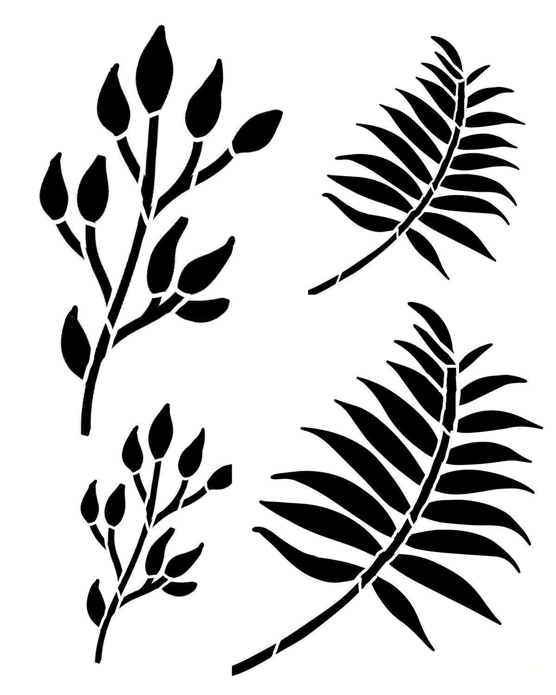 Spring Leaves 2 stencil