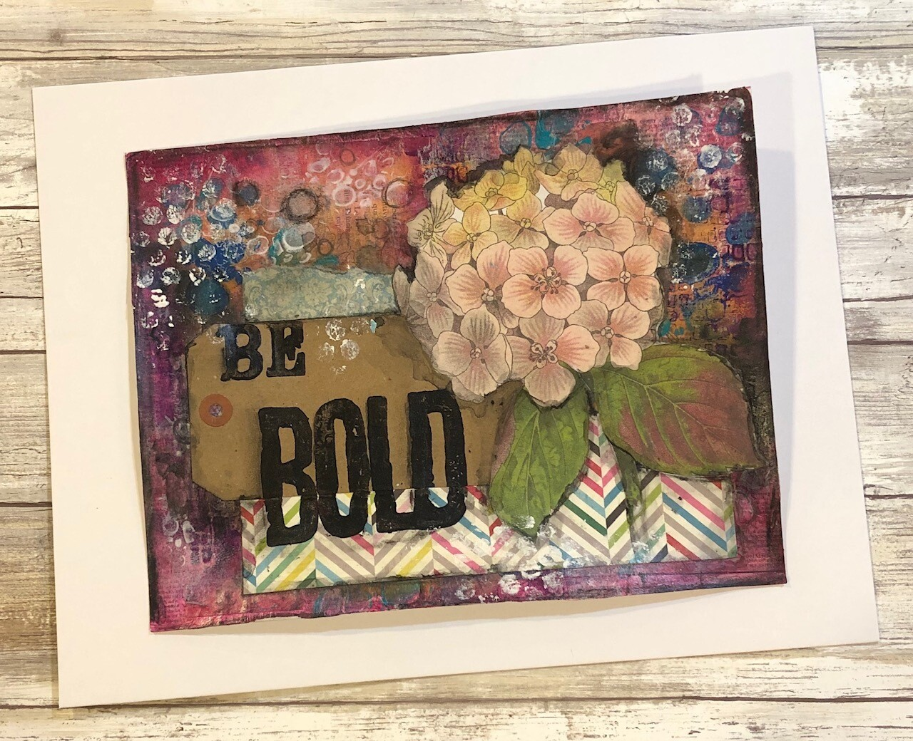 """Be Bold"" 8.5x11 mixed media original to be framed"