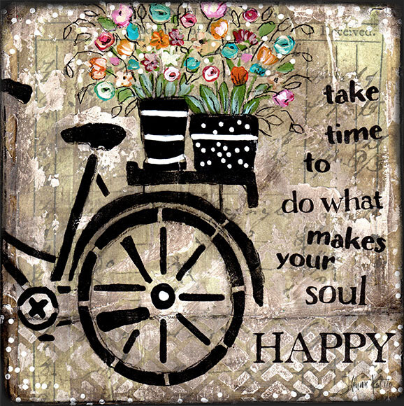 """""""Do what makes your soul happy"""" Print on Wood and Print to be Framed"""