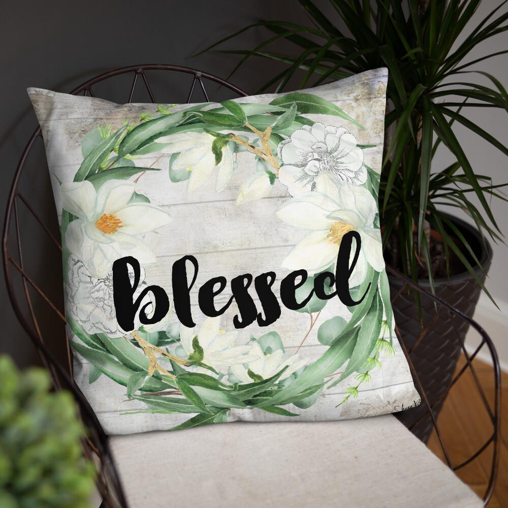 Blessed Eucalyptus Wreath Basic Pillow