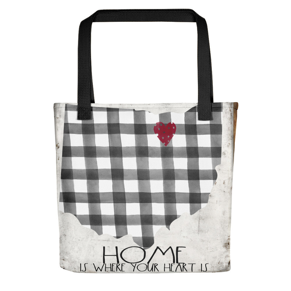 Ohio Home is where the Heart is Tote bag