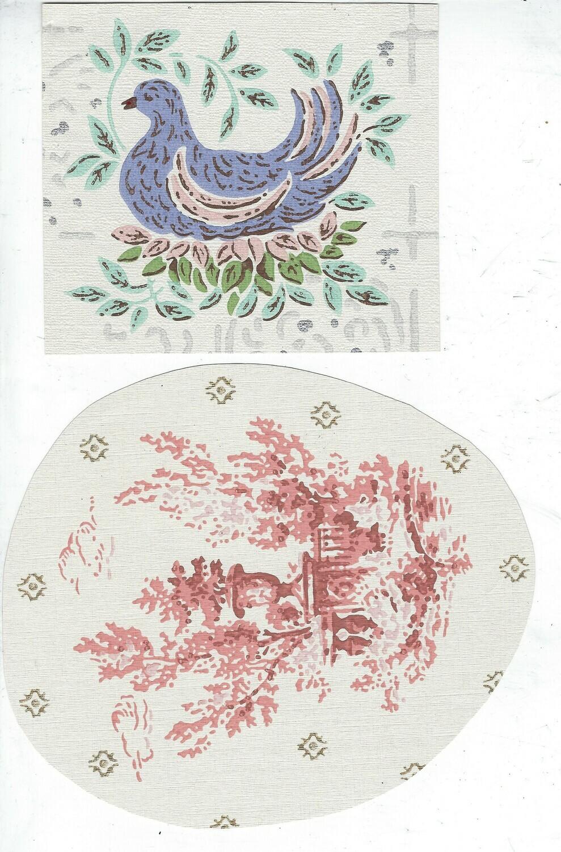 Vintage Wallpaper 3 collage pak 12 pages instant download