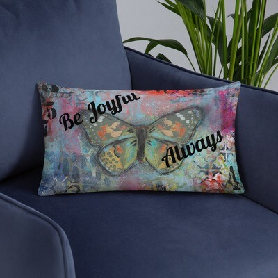 Be Joyful always Basic Pillow