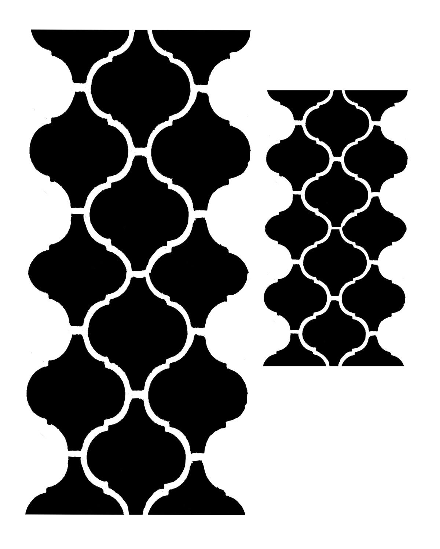 Moroccan Tile 4 8x10 stencil