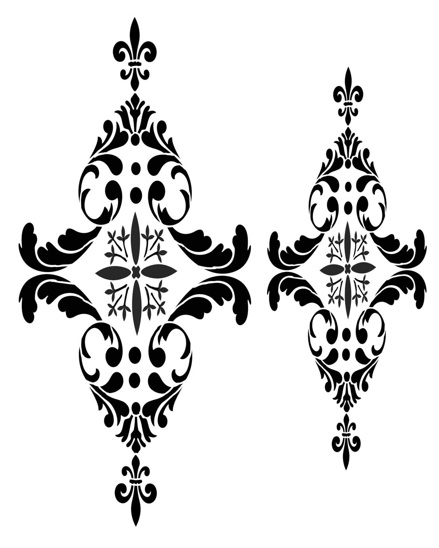 Paris Flourish 2 stencil