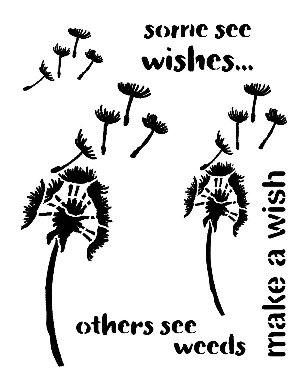 Make A Wish stencil