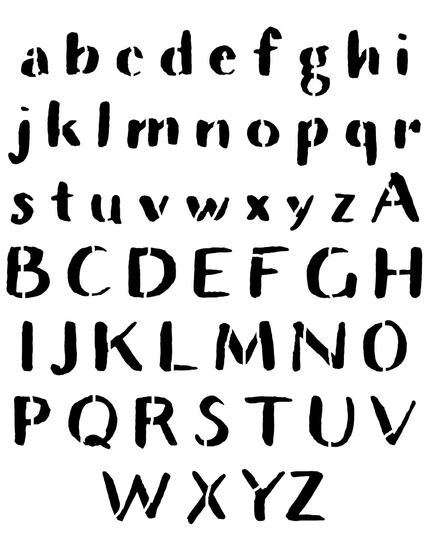 Rustic Font large stencil