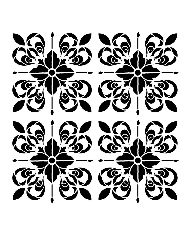 Moroccan Tile 2 8x10 stencil