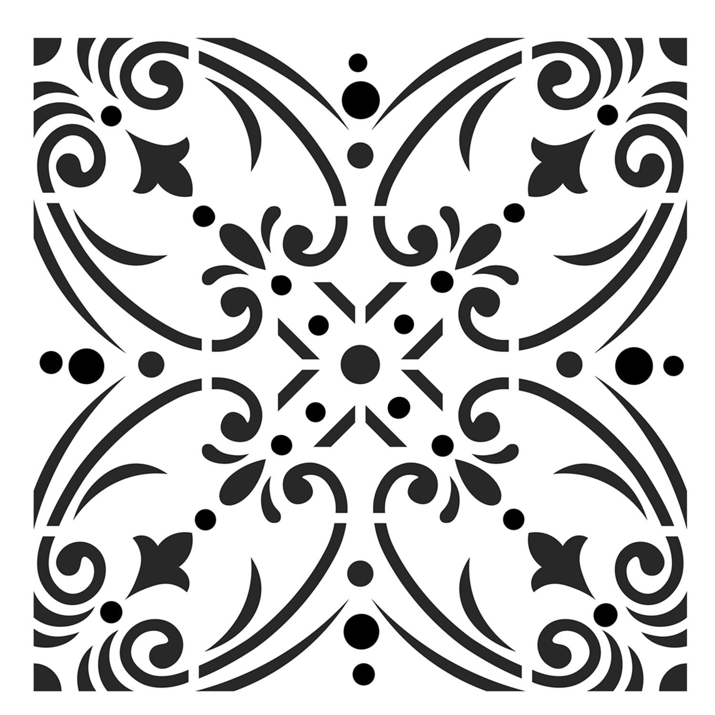 Moroccan Tile 1 6x6 stencil